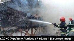 Место взрыва на ярмарке во Львове