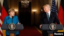 Ангела Меркель жана Дональд Трамп
