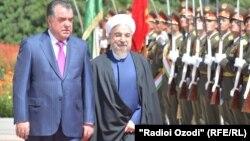 Эмомали Рахмон и Хасан Роухани.