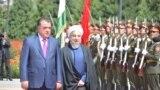 Эмомали Рахмон и Хасан Роухани. Архивное фото