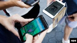 Pokemon Go на улицах Нью-Йорка. 11 июля