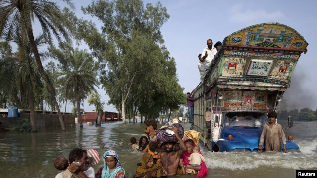Pakistan -- the floods have created extreme conditions for Radio Mashaal's reporters to deal with.