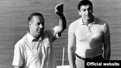 Azerbaijan – President Ilham Aliyev with his father Haydar Aliyev, undated