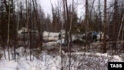 """Самолет L-410 """"Хабаровских авиалиний"""", разбившийся при совершении рейса из Хабаровска в поселок Нелькан"""