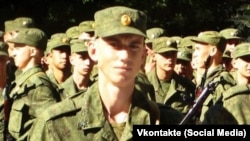 Soldier Vadim Kostenko, who Russian officials say committed suicide in Syria.