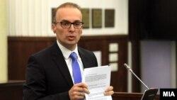 Пратеникот Антонијо Милошоски од ВМРО-ДПМНЕ.