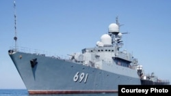 There have been unconfirmed reports that Russian warships carrying special forces have arrived in Syria (file photo).