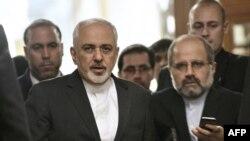 وزير خارجية محمد جواد ظريف في لوزان في سويسرا، 26 آذار 2015