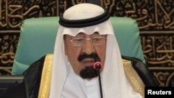 Сауд Арабиясының патшасы Абдулла. Мекке, 14 тамыз 2012 жыл.