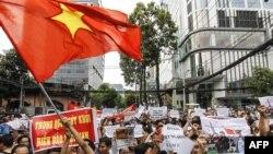 Кытайга каршы Хо Ши Миндеги демонстрация.11-май, 2014-жыл.