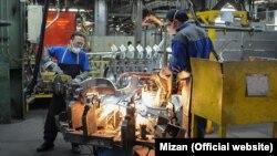 Iran Khodro car factory in Tehran. File photo