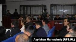 В суде по делу Руслана Кулекбаева. Алматы, 25 октября 2016 года.
