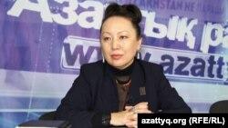 Алтынай Жунусова, руководитель казахского культурного центра «Молдир» в Омске. Алматы, 25 февраля 2015 года.