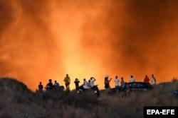 Лесной пожар в районе Алтос-де-Морбелья, Испания. Август 2019 года