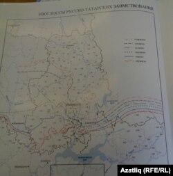 Харитада Татарстан һәм Удмуртия чикләре