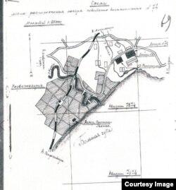 Схема лагеря военнопленных, Медвежьегорск