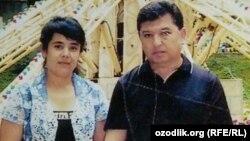 Наргиза Джумаева с бывшим мужем Аббосом Мирзияевым. Фото предоставлено редакции «Озодлика» родственниками женщины.