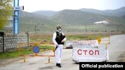 Блёкпост у Бішкеку, Кіргізстан. Ілюстрацыйнае фота