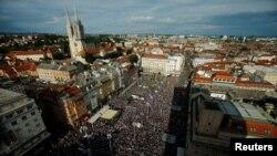 Prosvjed u Zagrebu (1. lipnja 2016)