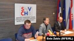 Slijeva nadesno: Ljubomir Mikić, Saša Milošević i Boris Milošević, Zagreb