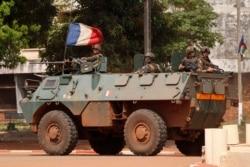 Французские солдаты в Банги