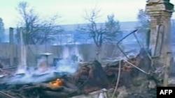 На месте пожаров в Волгоградской области, 3 сентября 2010 г