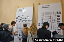 На выставке Pop-up музей «Архитектурный код Алматы». Алматы, 31 марта 2017 года.