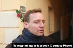 Ян Махонин на открытии таблички Йозефу Кроулю