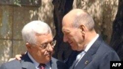 اهود اولمرت، نخست وزیر اسرائیل، و محمود عباس، رییس تشکیلات خودگردان فلسطینی. (عکس: AFP)