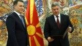 Архивска фотографија - Претседателот Ѓорге Иванов му го врачува мандатот на Никола Груевски, претседател на ВМРО-ДПМНЕ