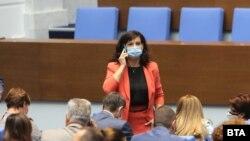 Председателят на парламентарната група на ГЕРБ Даниела Дариткова
