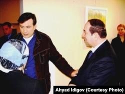 Ахъяд Идигов и Михаил Саакашвили