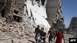 Разрушения в сирийском городе Дума
