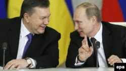 Віктор Янукович і Володимир Путін у час Революції гідності. Москва, 17 грудня 2013 року