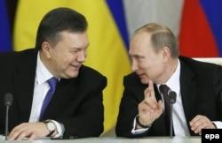 Віктор Янукович та Володимир Путін під час зустрічі у Москві. 17 грудня 2013 року