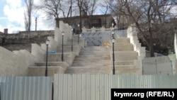 Ремонт Митридатской лестницы в Керчи, архивное фото