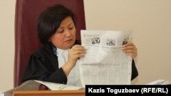 Гульмира Бейсенова, судья Медеуского районного суда. Алматы, 24 декабря 2012 года.