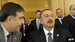 Keçmiş Gürcüstan prezidenti M. Saakshvili və Azərbaycan prezidenti İlham Əliyev