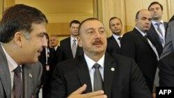 M.Saakashvili və İ.Əliyev