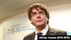 Carles Puigdemont la Clubul de Presă de la Bruxelles