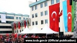 Azərbaycan və Türkiyənin bayraqları