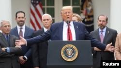 Президентът Доналд Тръмп по време на речта, с която обяви извънредно положение в САЩ. 13 март 2020 г.