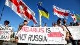 Під час акції «Разом за вільну Білорусь» на майдані Незалежності в Києві, 9 серпня 2020 року
