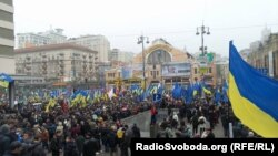 Акция сторонников евроинтеграции в Киева, 24 ноября