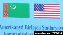 Türkmen we amerikan baýdaklary