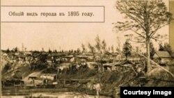 Общий вид Новониколаевска в 1895 году
