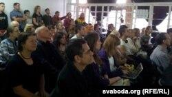 Удзельнікі сустрэчы зь Сьвятланай Алексіевіч
