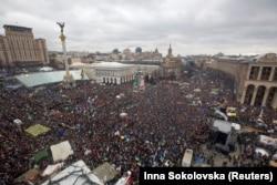 Митинг сторонников интеграции с ЕС в Киеве 8 декабря 2013 года