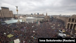 "The ""March of a Million"" gathered thousands of EU integration supporters on Independence Square on December 8."