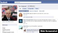 Profil Ive Josipovića na Facebooku